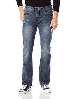 Buffalo David Bitton Men's King Slim Fit Bootcut Jean, Sandb