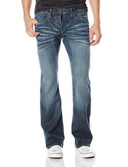 Buffalo David Bitton Men's King Slim Fit Bootcut Jean, Distr