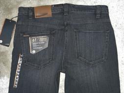 Volcom Kinkade Tapered Slim Straight Jean 29 X 30 Black Dist