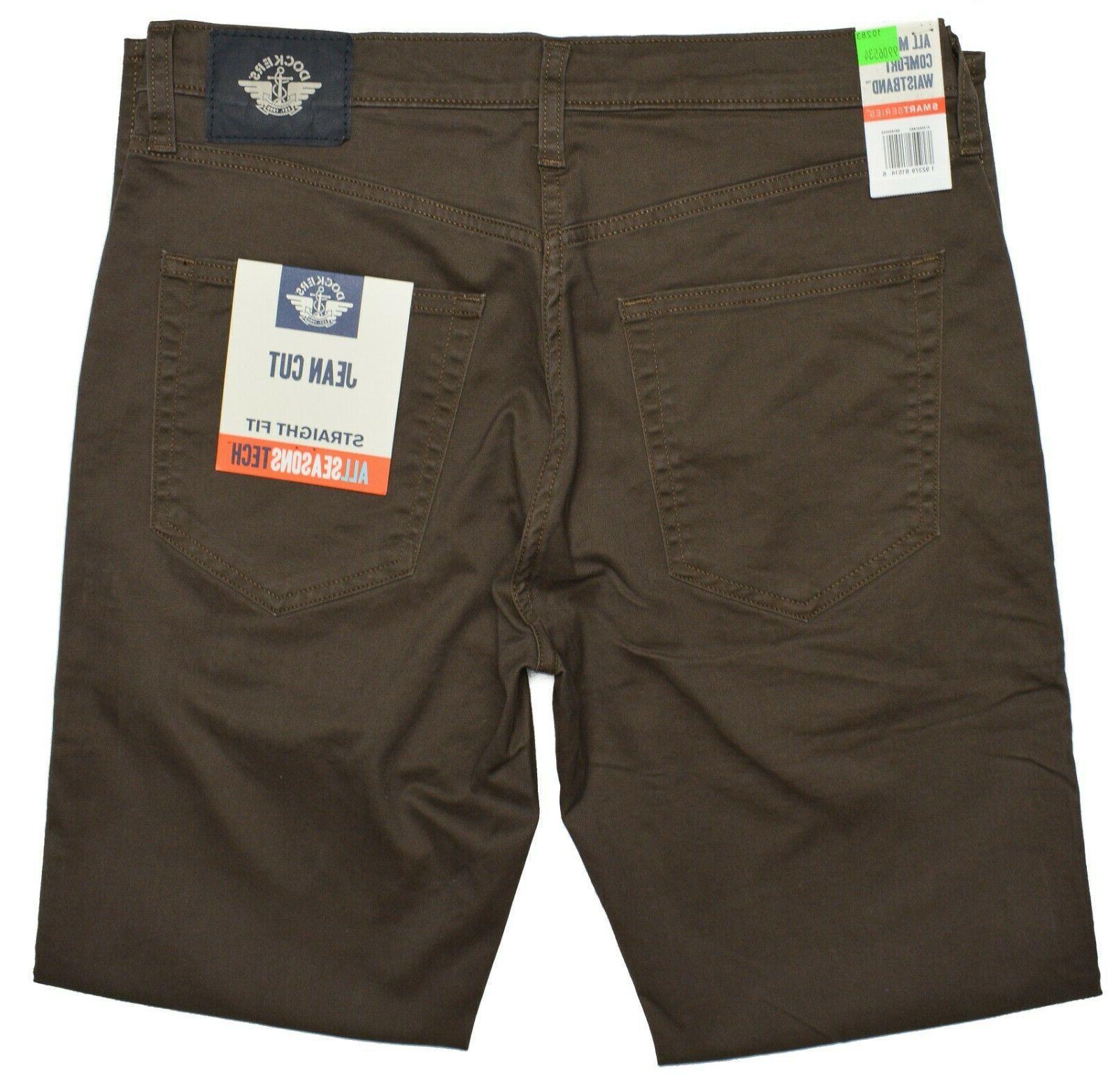 Dockers NEW Men's Straight Jean All Seasons Tech Stretch Pants