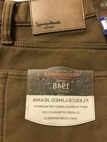 Weatherproof Fleece-Lined Jeans Size Varies