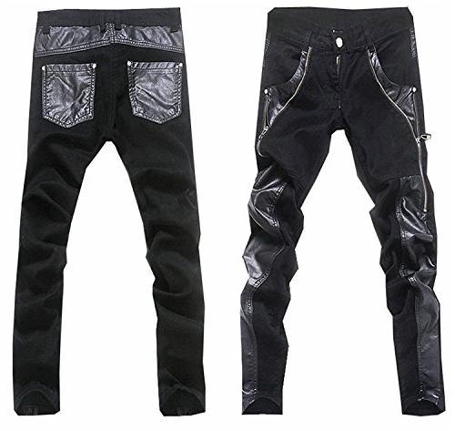 2018 pu leather casual slim
