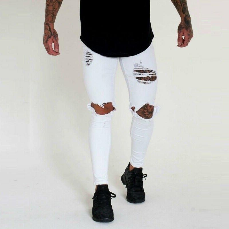 2019 New Men's Low Jeans Male Pants