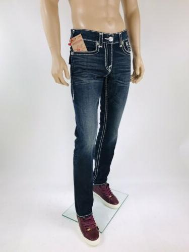 $249 Super T True Religion Men Jeans 34 Slim Super Rope Mega QT