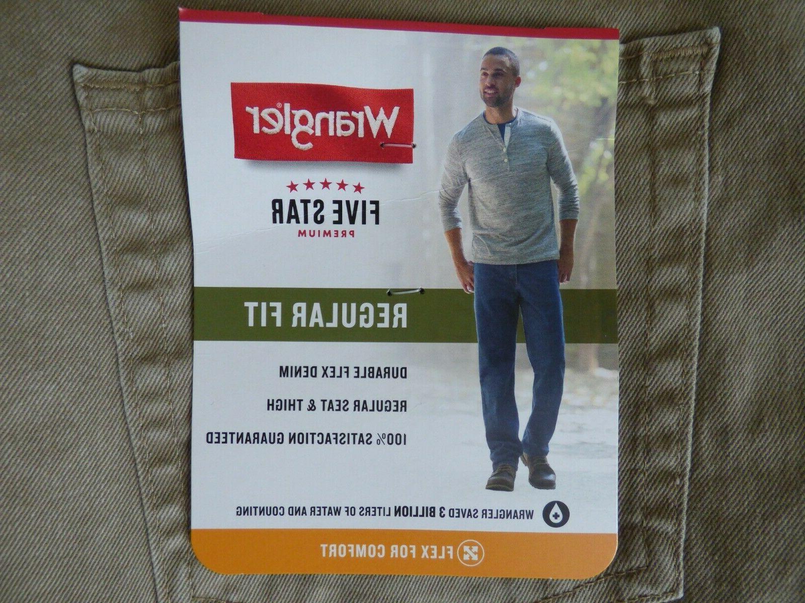 Wrangler 5 Star Regular Fit Jean with Flex Mens - Size W29 -