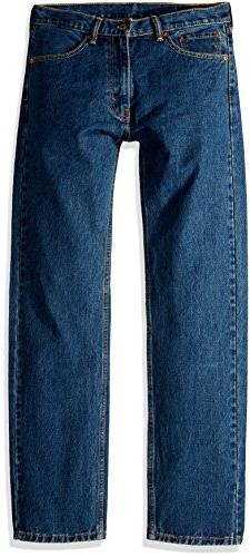 Levi's Men's 505 Regular Fit-Jeans, Dark Stonewash, 34W x 30