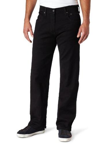 Levi_s Men_s 569 Loose Straight Leg Jean, Black-Stretch, 40x