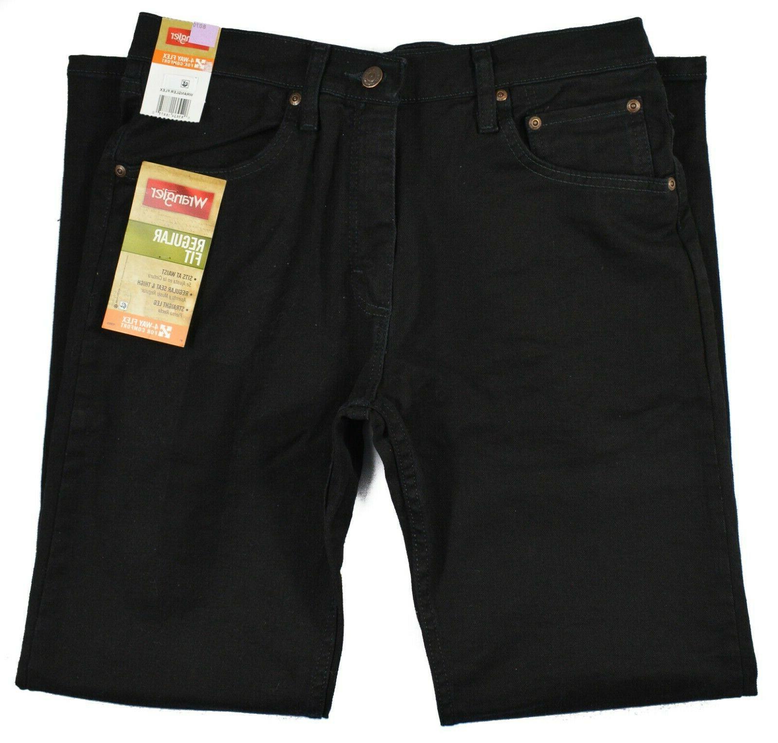 Wrangler #8070 Black Regular Fit Straight Leg Stretch