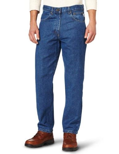 relaxed fit five pocket tapered