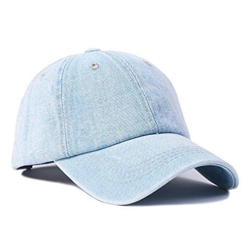 177b5c38591 Choomon Unisex Cotton Denim Baseball Cap Dad Hat Adjustable