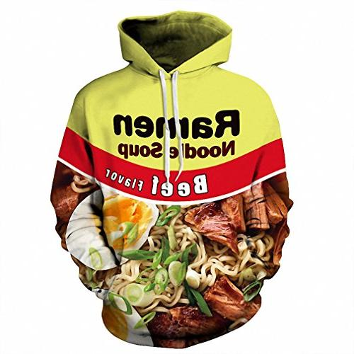 Crochi Style 3D Hoodie Brand Clothing Ramen Noodle Soup Prin