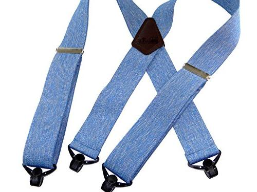 """Holdup Suspender brand top quality Blue Jean colored 2"""" Wide"""