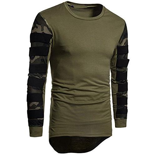 Realdo Men's Pullover Sweatshirt Tops, Long Sleeve Breathabl