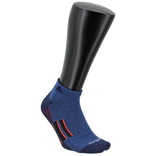 adidas Men's Climalite Ii 2-Pack Low Cut Socks, Blue/Collegiate Navy/Energy Red/Black,