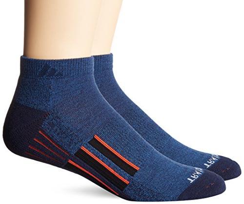 adidas Men's Climalite X Ii 2-Pack Low Cut Socks, Denim Blue