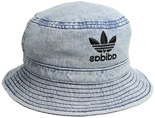 077b3969 adidas Originals Denim Bucket Hat, Collegiate Navy/Black, On
