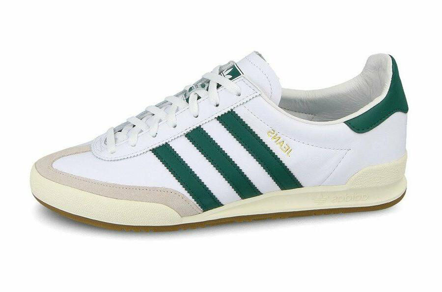 adidas Originals Jeans Trainers - White/Green - BB7440 - Siz