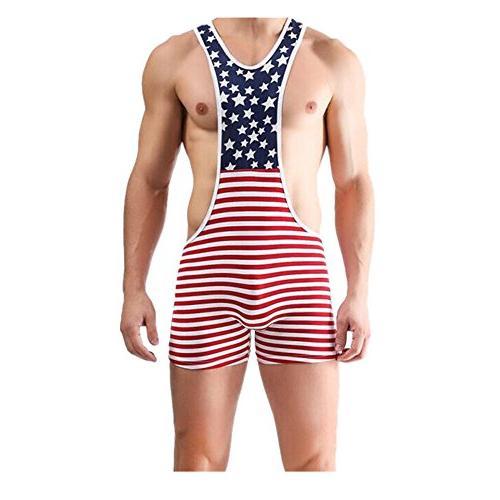 american flag wrestling singlet gym