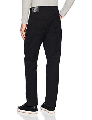 & Co. Label Men's Athletic Jeans, Raven,