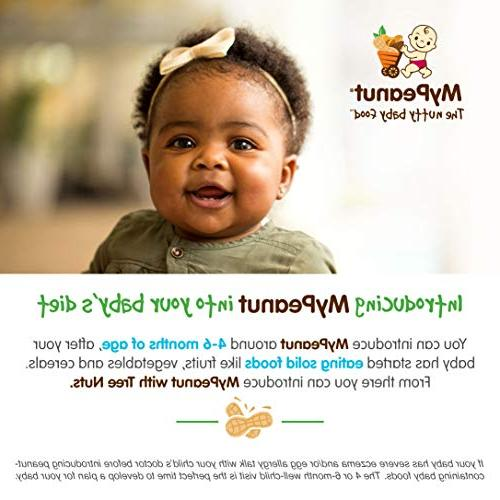 MyPeanut Baby Food, Stage 1 Apple Puree Introducing and Feeding Babies Toddlers BPA Free 3.5 oz 6 Pack