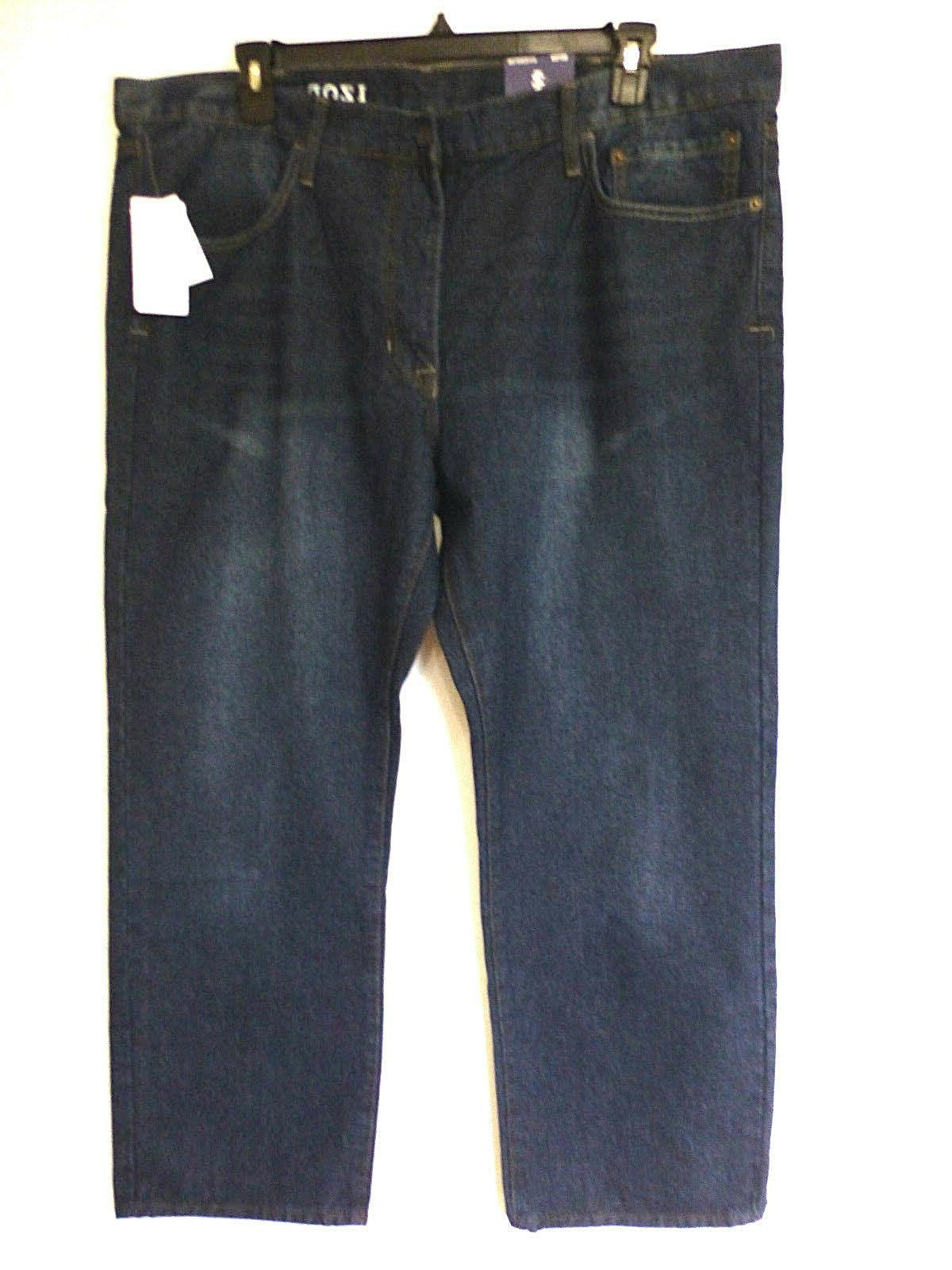 IZOD Big Mens Size 42X30 Meadow Blue Relaxed Fit Straight Le