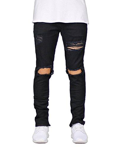 distressed destroyed ripped slim fit