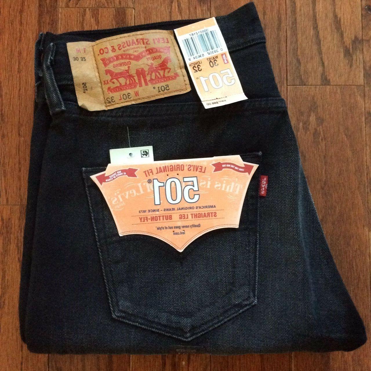 Levi's Men's 32X34 Jeans Original Fit Straight Leg Fly-2167