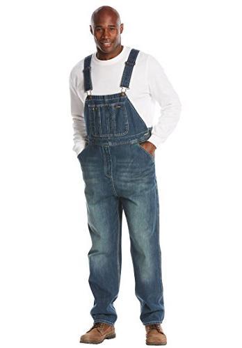 blues big tall denim overalls