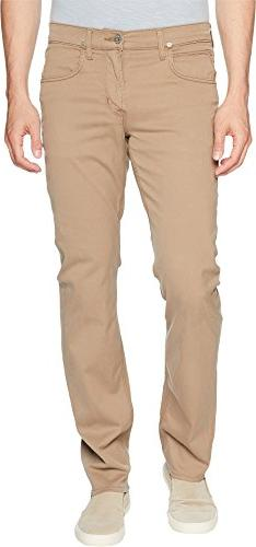 Hudson Jeans Men's Byron Straight Zip Fly Twill, Sandman, 36