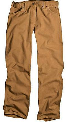 Carpenter Jeans, Duck Fabric, Relaxed Fit, Brown, Men's 30 x