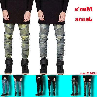 comfortable denim trousers elastic jeans casual slim