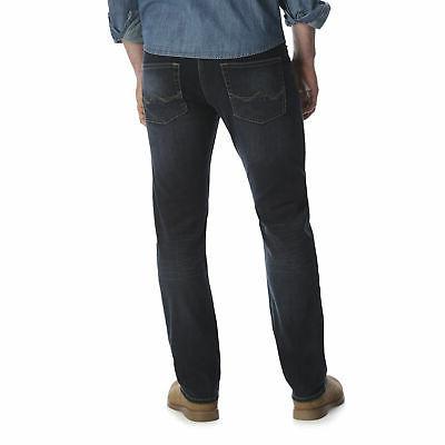 Wrangler Dark Men's Comfort Flex Slim Straight Leg