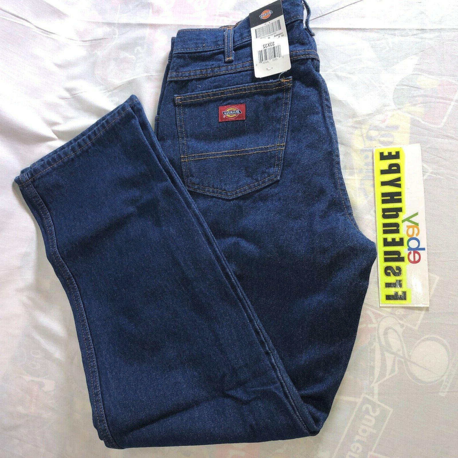 Dickies Denim Men's Size 33 x 32 Relaxed Fit Rinsed
