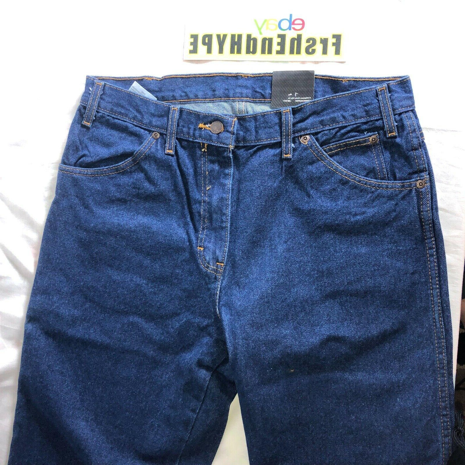 Dickies Men's Size 32 Relaxed Rinsed Indigo