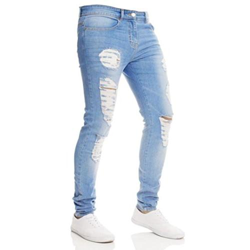 denim jeans skinny destroyed hole