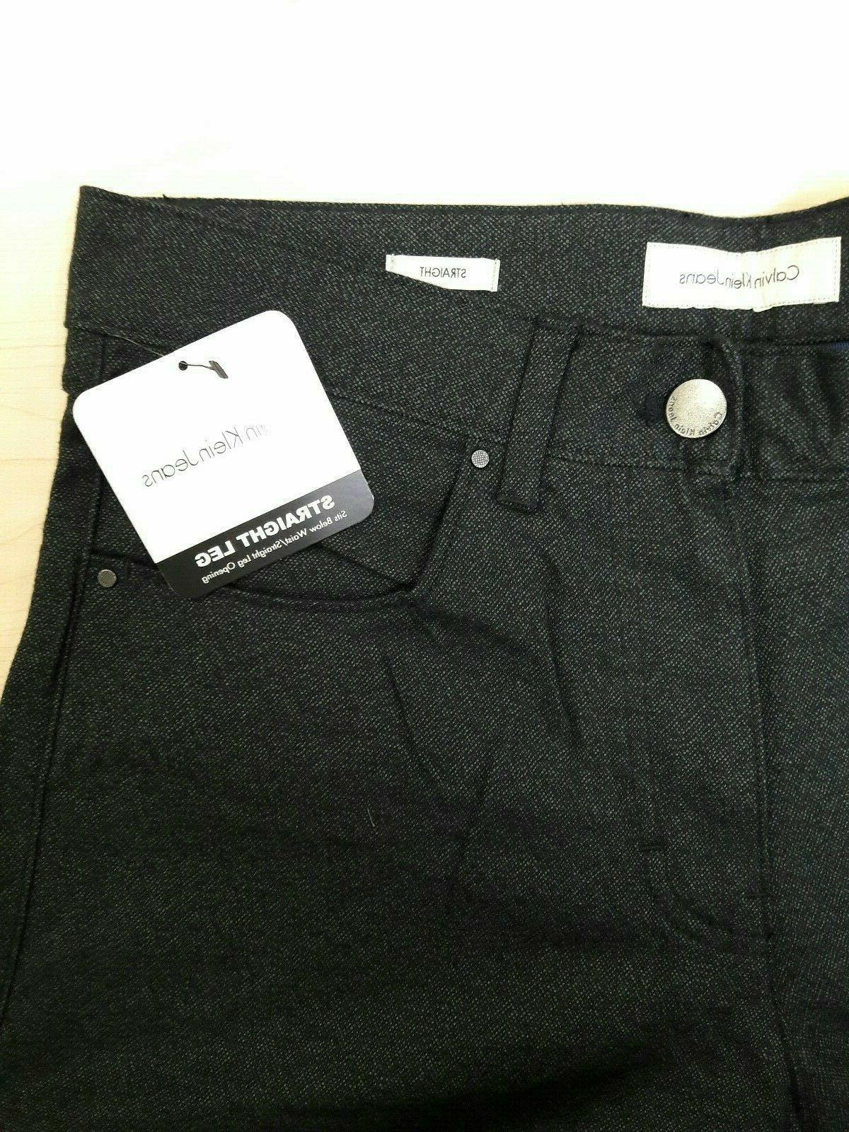 Calvin Klein Easy Fit Mens Jeans Straight COLOR: BLACK, BLUE GRAY