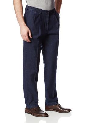 expandable waist iron dark denim