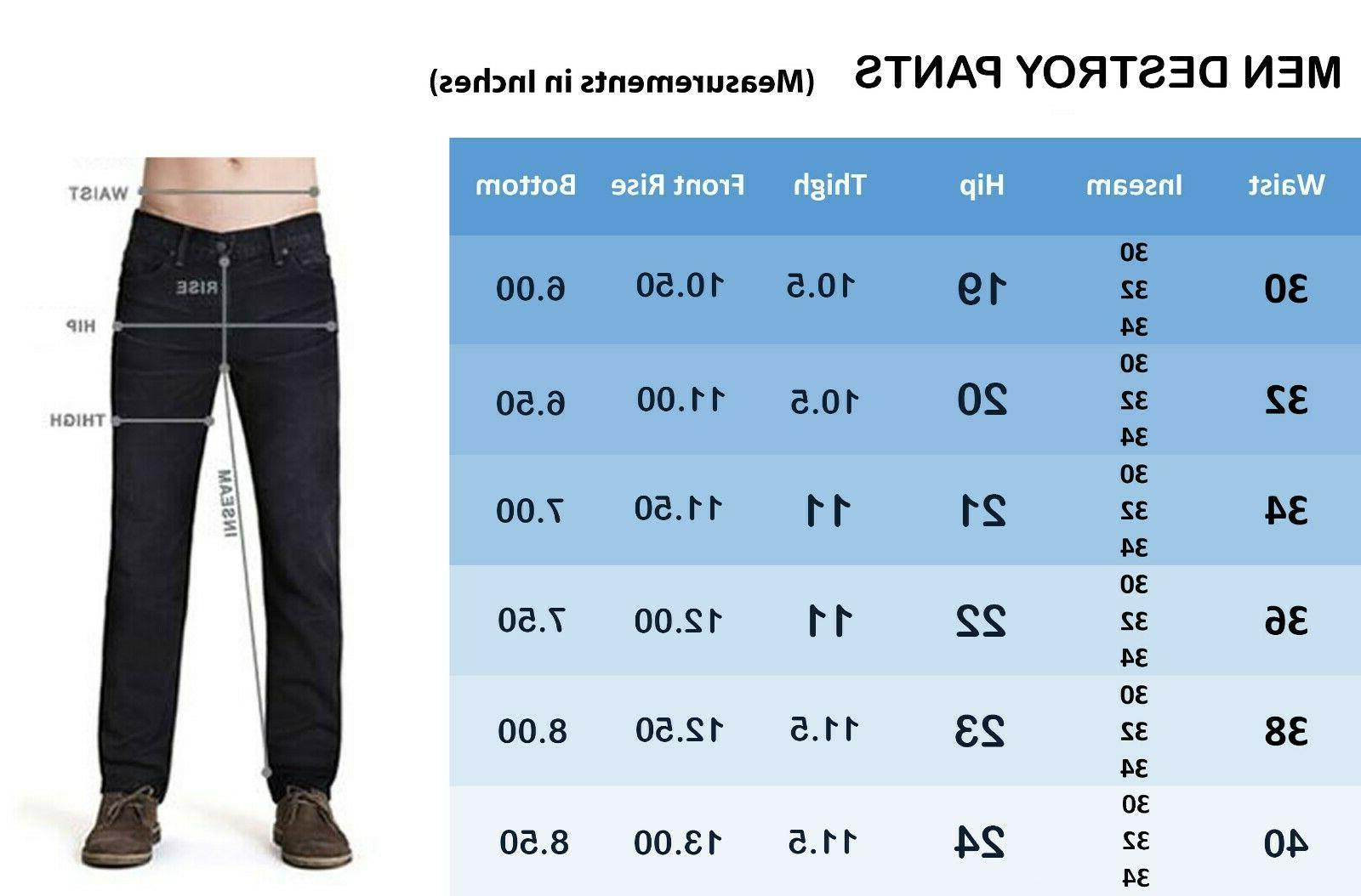FASHIO Mens Denim Skinny Fit Biker Pants Jeans