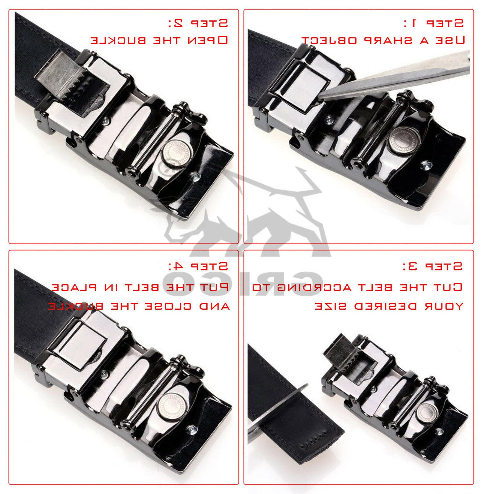 Fashion Automatic Leather Ratchet Jeans Waistband Gift