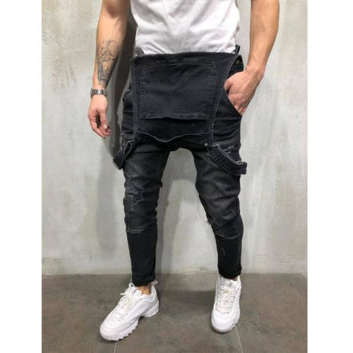 Fashion Men's Skinny Jeans Destroyed Fit Denim US