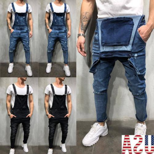 fashion men s ripped skinny jeans destroyed