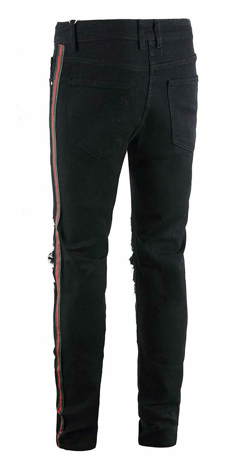 FEESON Men's Casual Ripped Side
