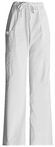 Dickies Men's Natural Fit Drawstring Cargo Pant_White_XXX-La