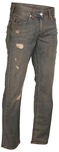 True Religion Men's Flap OM Straight Leg Jeans-38