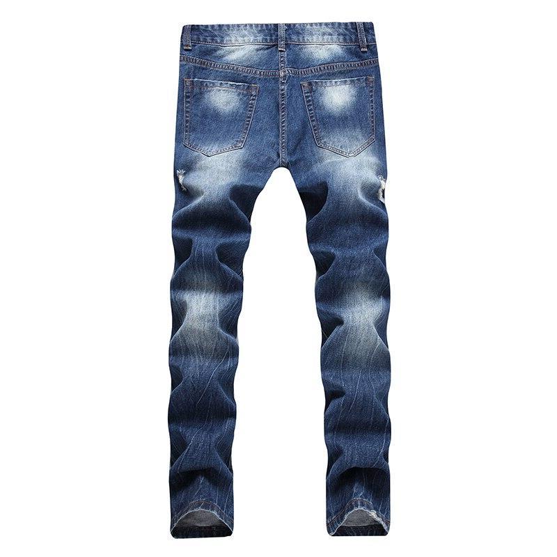 HMILY <font><b>Men</b></font> Quality Fit Designer Denim Patch <font><b>Jeans</b></font> Male Pants <font><b>Men</b></font>`<font><b>s</b></font> Destroyed Big