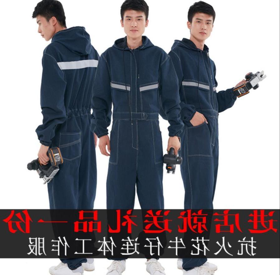 <font><b>S</b></font>-4XL Denim women electric welder dust-proof long-sleeved plus clothes