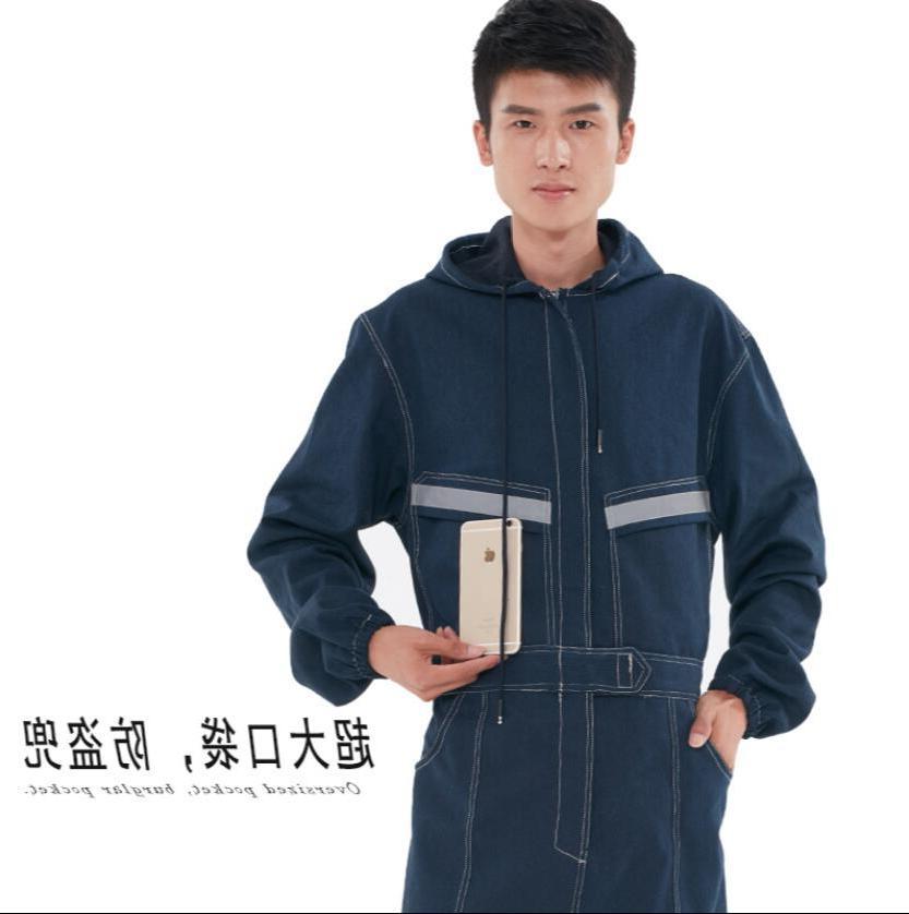 <font><b>S</b></font>-4XL Denim women electric dust-proof tooling reflective long-sleeved clothes