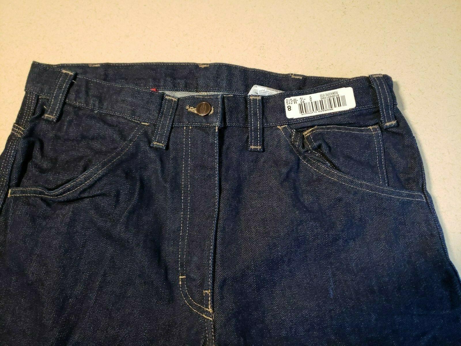 Dickies FR Men's Jeans Carpenter Workwear 32 X See