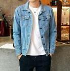 Hot Men's slim denim jackets coat washed retro jean jacket S