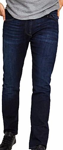 Mavi Men's Jean Marcus Slim Straight Leg in Rinse Brushed Wi